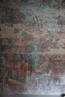 Right Room Wall Mural in Bonampak's Acropolis - bonampak mayan ruins,bonampak mayan temple,mayan temple pictures,mayan ruins photos