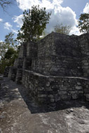 Temple II in Calakmul's Central Plaza - calakmul mayan ruins,calakmul mayan temple,mayan temple pictures,mayan ruins photos