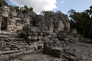 Temple III in Calakmul's Central Plaza - calakmul mayan ruins,calakmul mayan temple,mayan temple pictures,mayan ruins photos