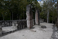 Temple VI in Calakmul's Central Plaza - calakmul mayan ruins,calakmul mayan temple,mayan temple pictures,mayan ruins photos