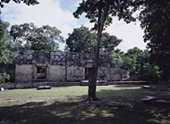 Group A, Temple II at Chicanna - chicanna mayan ruins,chicanna mayan temple,mayan temple pictures,mayan ruins photos