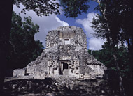Group D, Temple XX at Chicanna - chicanna mayan ruins,chicanna mayan temple,mayan temple pictures,mayan ruins photos