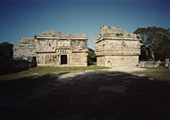 Nunnery Complex and Church at Chichen Itza - chichen itza mayan ruins,chichen itza mayan temple,mayan temple pictures,mayan ruins photos