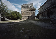 Nunnery Complex Church at Chichen Itza - chichen itza mayan ruins,chichen itza mayan temple,mayan temple pictures,mayan ruins photos
