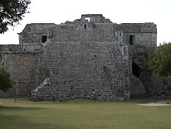 Nunnery Complex Pyramid at Chichen Itza - chichen itza mayan ruins,chichen itza mayan temple,mayan temple pictures,mayan ruins photos