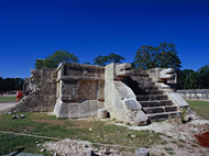 Platform of the Eagles and Jaguars at Chichen Itza - chichen itza mayan ruins,chichen itza mayan temple,mayan temple pictures,mayan ruins photos