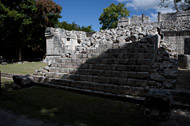 Temple of the Sculpted Tablets at Chichen Itza - chichen itza mayan ruins,chichen itza mayan temple,mayan temple pictures,mayan ruins photos
