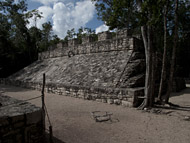 Mayan Ball Court at Coba - coba mayan ruins,coba mayan temple,mayan temple pictures,mayan ruins photos
