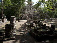 Group D, Temple III at Coba - coba mayan ruins,coba mayan temple,mayan temple pictures,mayan ruins photos