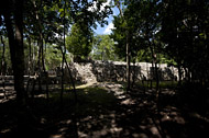 Group D, Temple V at Coba - coba mayan ruins,coba mayan temple,mayan temple pictures,mayan ruins photos