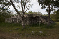 Central Plaza Northeast Temple at Dzibilchaltun - dzibilchaltun mayan ruins,dzibilchaltun mayan temple,mayan temple pictures,mayan ruins photos