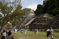 Mayan Temple of the Inscriptions at Palenque Ruins - palenque mayan ruins,palenque mayan temple,mayan temple pictures,mayan ruins photos