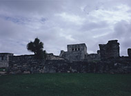 Castle of the Paintings at Tulum Ruins - tulum mayan ruins,tulum mayan temple,mayan temple pictures,mayan ruins photos